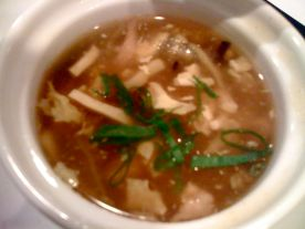 Yummy Hot and Sour Soup @ R&G Lounge