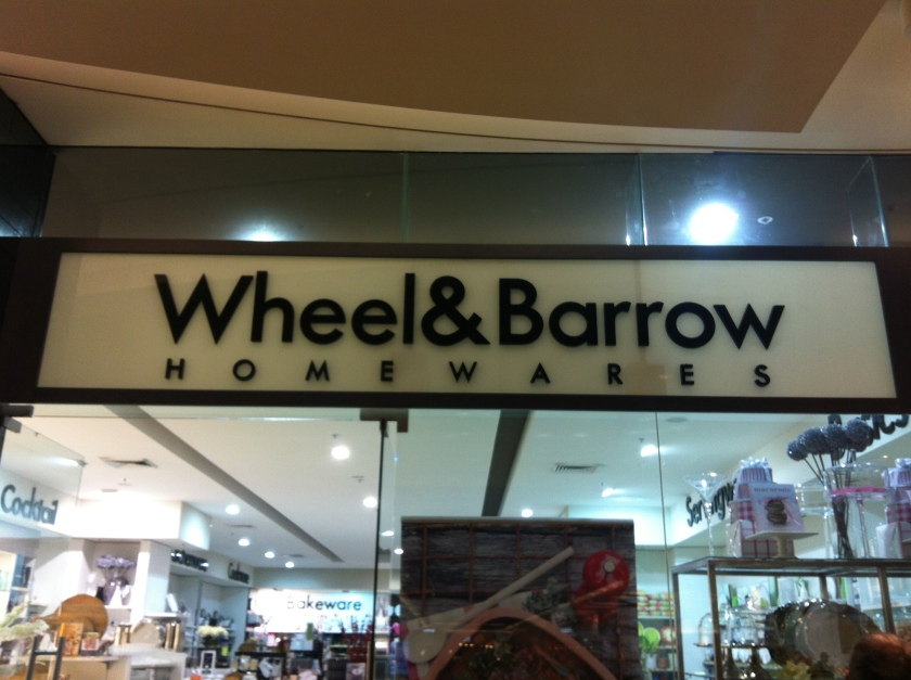 Wheel & Barrow...because Crate & Barrel just sounds weird