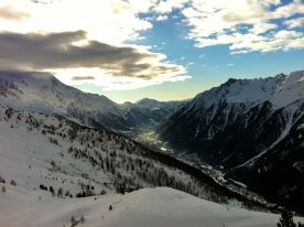 One of the best ski days yet: January 1 in Chamonix