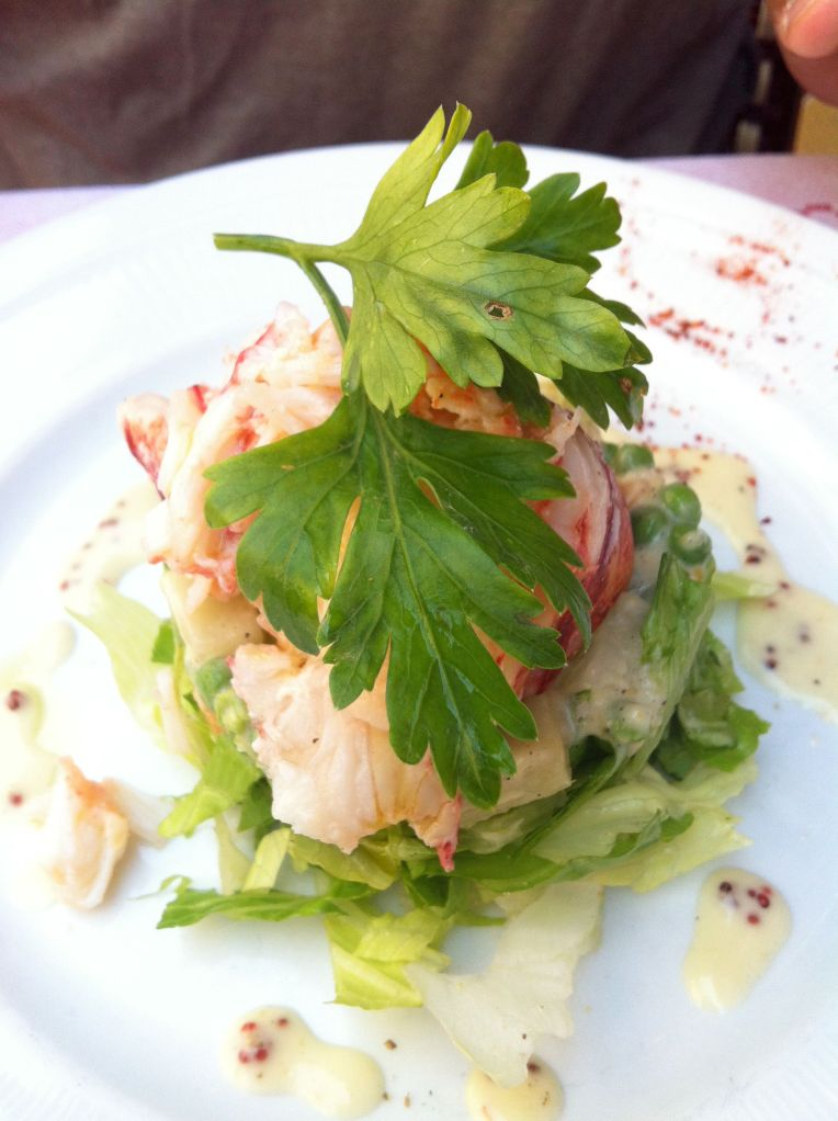 Lobster salad from the specials board
