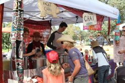 The chai tent was a hit