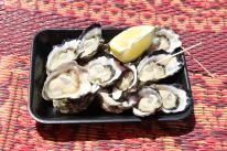 And fresh Sydney rock oysters