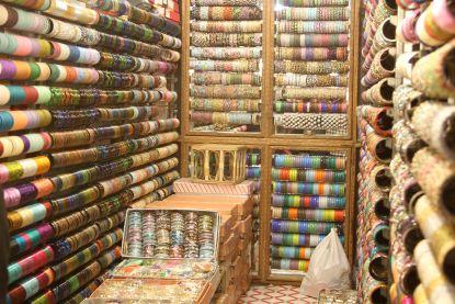 Bangle shopping in Hanuman Mandir