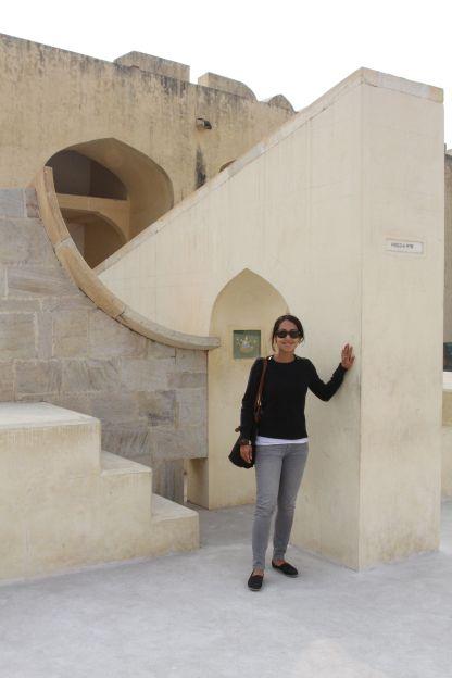 Standing next to my star sign at the Jantar Mantar