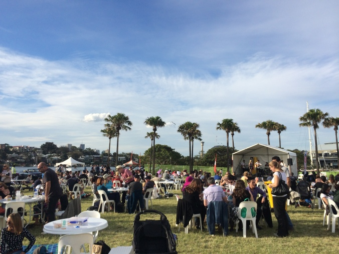 Food and wine tents at the annual Pyrmont Festival