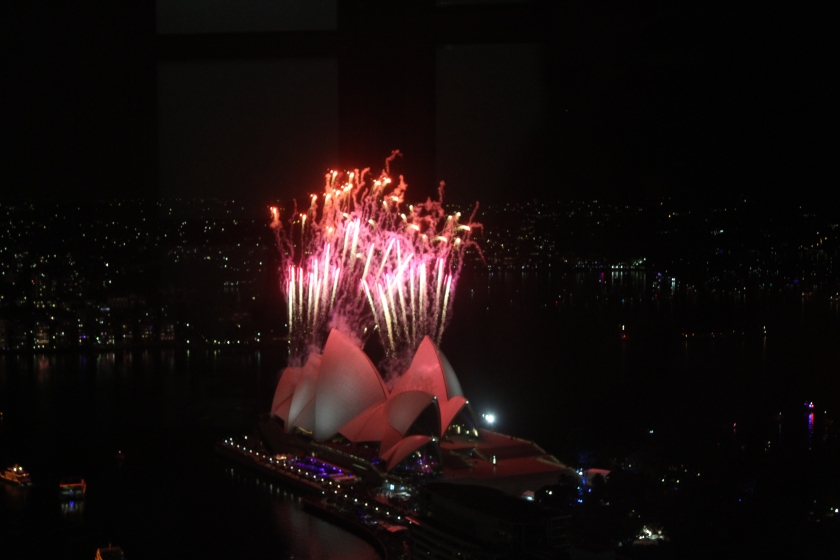 Our view of the Opera House at midnight