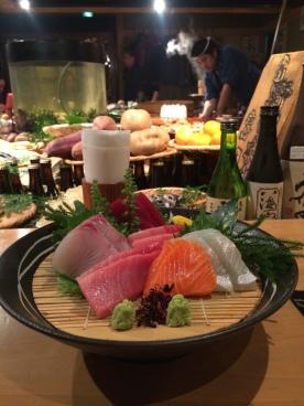 Fresh, thick-cut sashimi