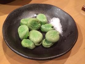 Incredibly fresh fava beans