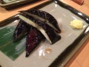 A mini eggplant