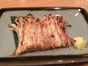 Delicious enoki mushrooms