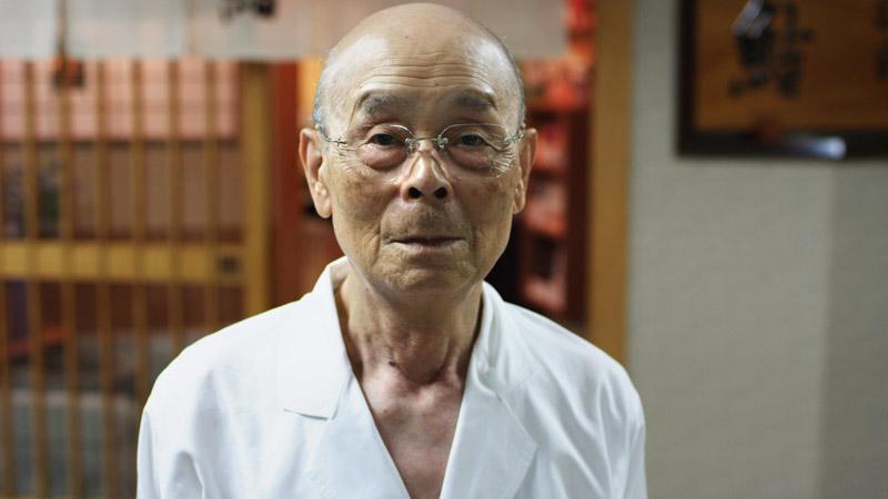 Chef Jiro Ono in a still from Jiro Dreams of Sushi