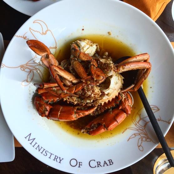 Garlic chilli crab