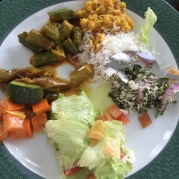 A typical vegetarian lunch